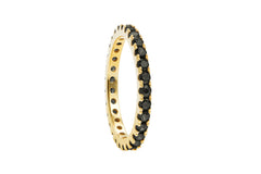 Irma Eternity Ring Obsidian