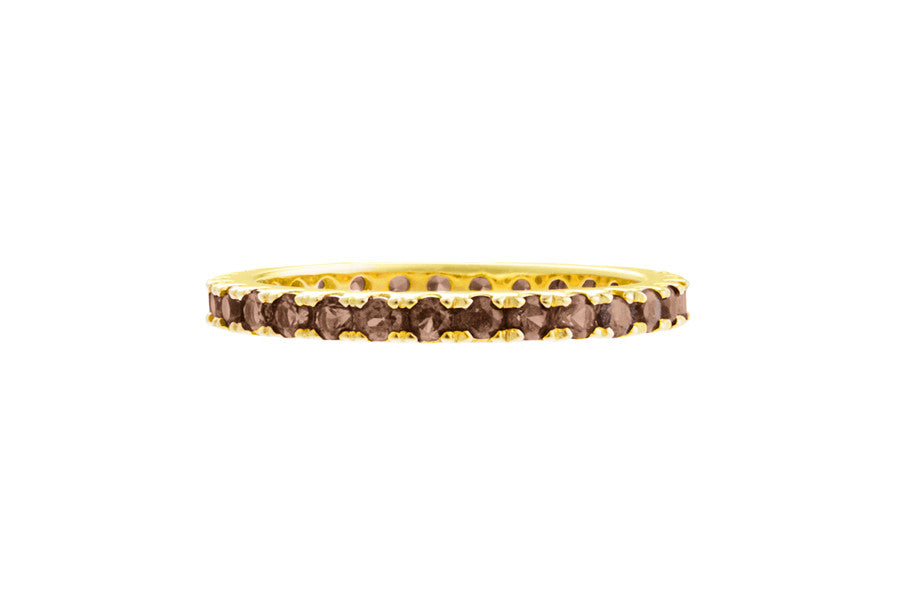 Irma Eternity Ring Smoky Quartz