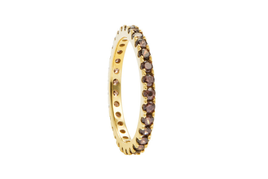 Irma Eternity Ring Smoky Quartz - Charlotte Bonde Sthlm