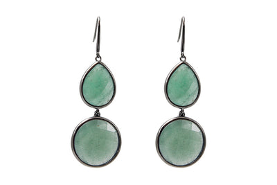 Sophie Amazon Earrings Green Aventurine - Charlotte Bonde