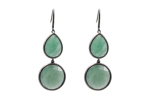 Sophie Amazon Earrings Green Aventurine
