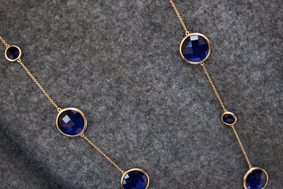Sophie Amazon Necklace Iolite - Charlotte Bonde