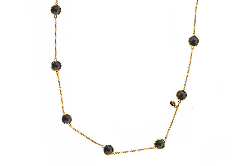 Sophie Just Perfect Necklace Obsidian - Charlotte Bonde