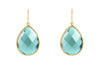 Sophie Petite Earrings Aqua Obsidian - Charlotte Bonde