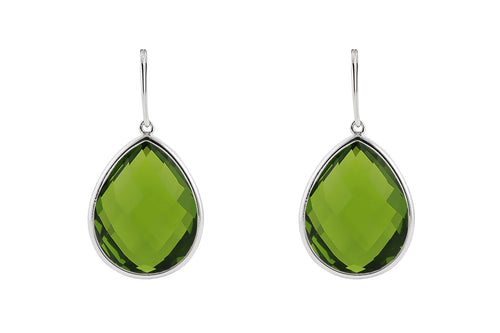 Sophie Petite Earrings Green Obsidian - Charlotte Bonde