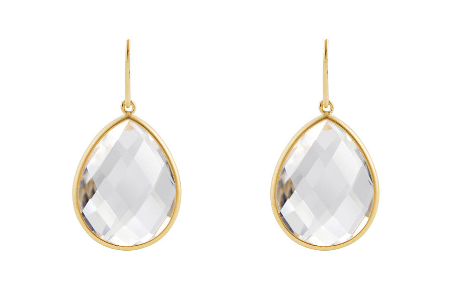 Sophie Petite Earrings Rock Crystal - Charlotte Bonde