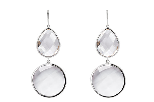 Sophie Amazon Earrings Rock Crystal - Charlotte Bonde