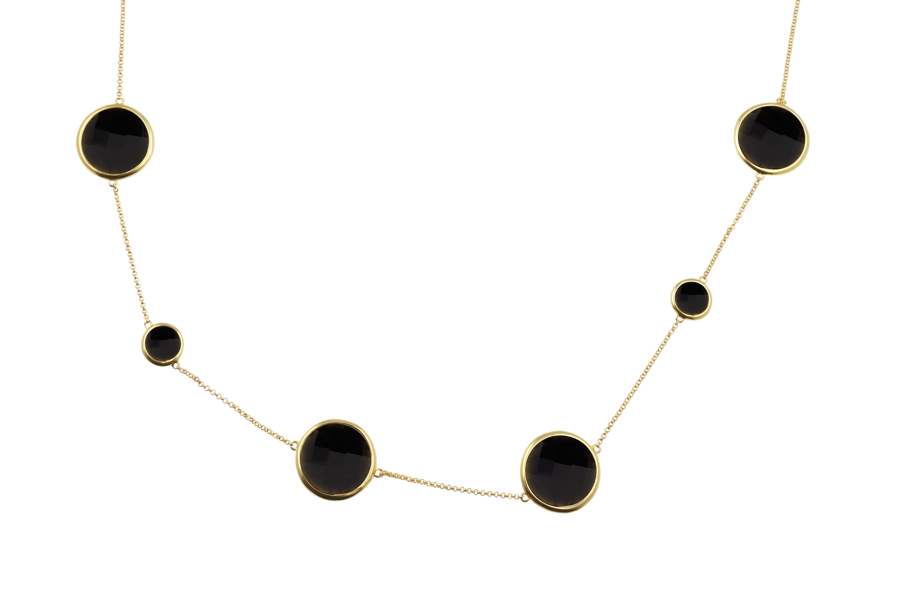 Sophie Amazon Necklace Obsidian - Charlotte Bonde