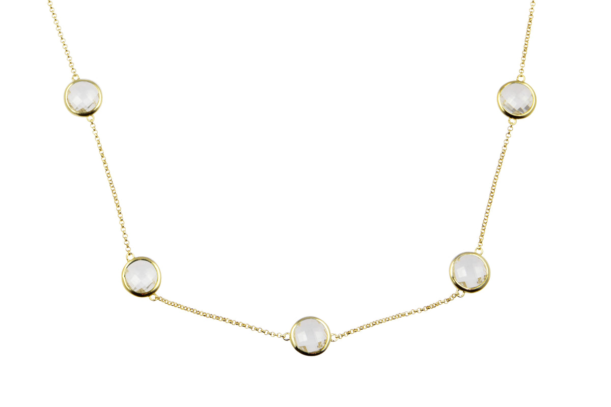 Sophie Just Perfect Necklace Rock Crystal - Charlotte Bonde