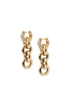 Timeless Chain Earrings Rock crystal - Charlotte Bonde