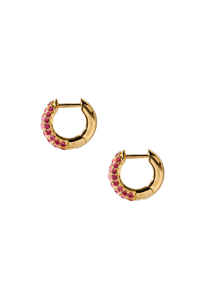 Timeless Tiny Hoops Ruby - Charlotte Bonde