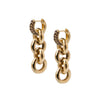 Timeless Chain Earrings Smoky Quartz - Charlotte Bonde Sthlm