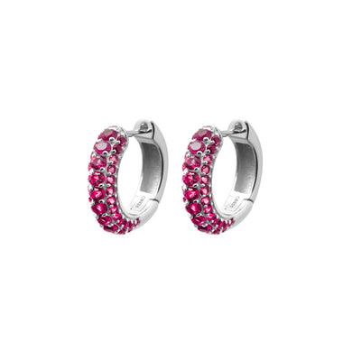 Timeless Chunky Hoops Ruby