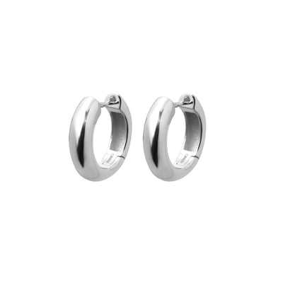 Timeless Chunky Hoops Silver - Charlotte Bonde
