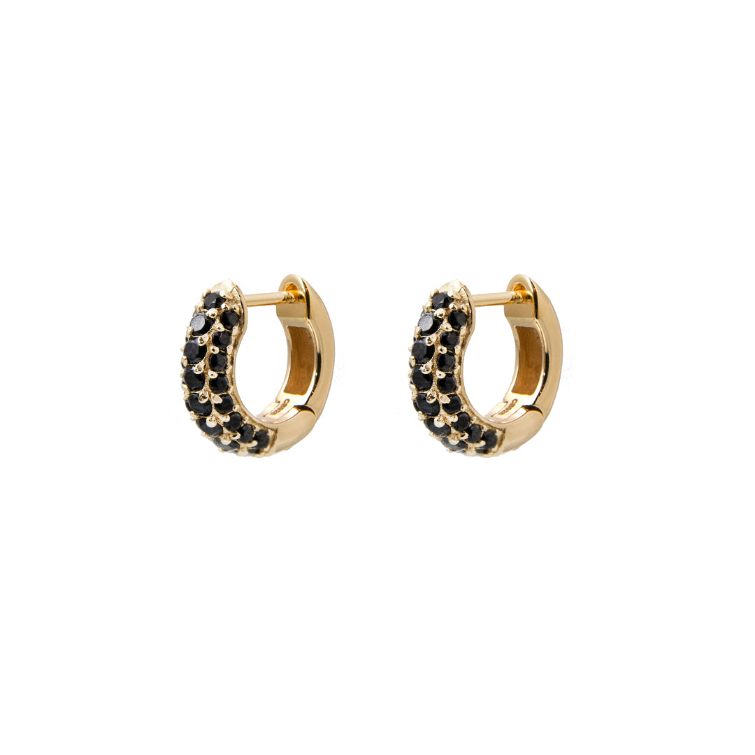 Timeless Tiny Hoops Black Spinel - Charlotte Bonde