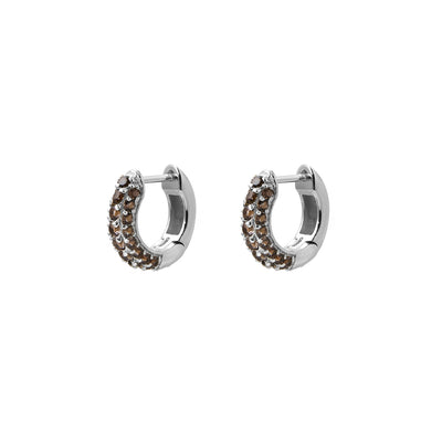 Timeless Tiny Hoops Smoky Quartz - Charlotte Bonde