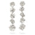 Hedvig Deco Vanity Earrings Silver Plated