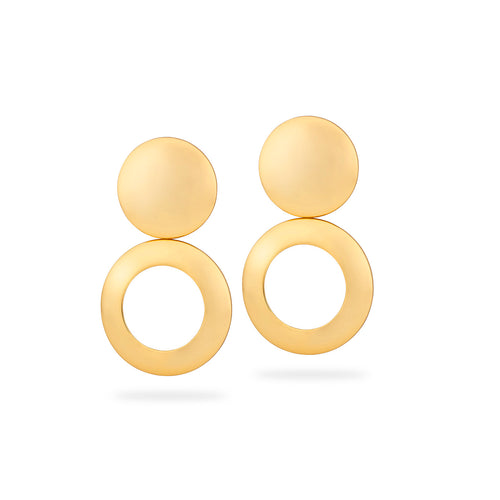 Astrid Dome Vanity Earrings Gold Plated