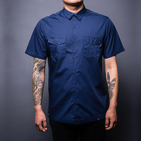 Navy Blue Military Shirt Front