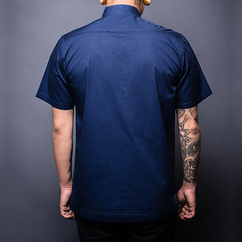 Navy Blue Military Shirt Back