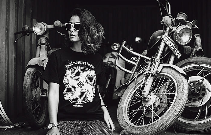 Top Model Krisha Shahi Rocks the Haul Apparel Swastika Tshirt Haul Angels