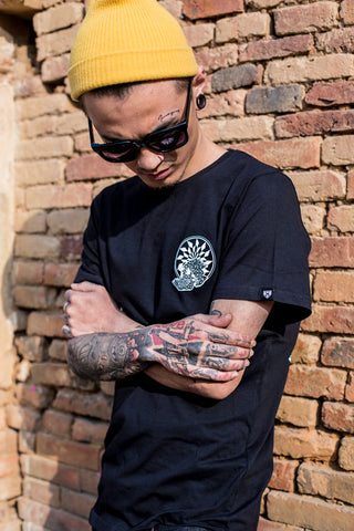 haul apparel spades black tee graphic design tattoo style india