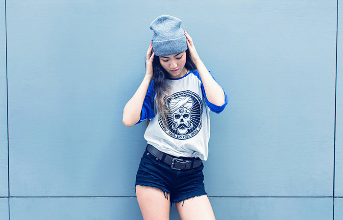 Haul Apparel Skull Stache Baseball Tshirt Indian Urbanwear Clothes in India