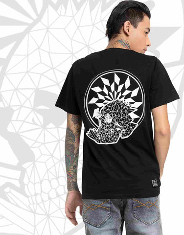 Geo Death Half sleeve tee black tee