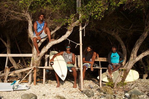 Haul Surfers from India Chilling & Enjoying the sunset in Maldives after good surf session