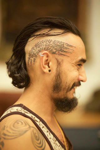 John Ma Head Tattoo