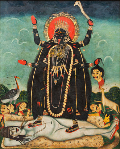 Maa Kali On Shiva, & Haul Apparel Kali artwork influence by Kayo Siddhi