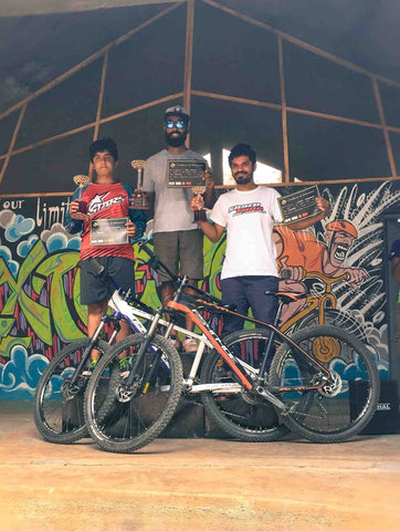 Rider Ajay Padval Wins the Downhill Hard Tail category at the Rolling MTB Championship