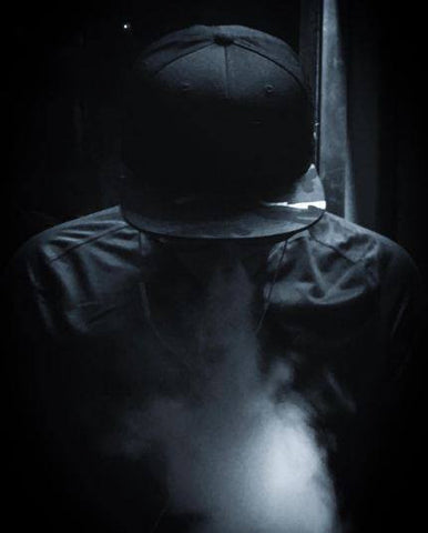 Srijan Ulak Vaping With the Haul Leather Campflauge Snapback Hat in India