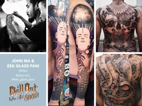 eek glass pani john ma at chill out tattoo festival