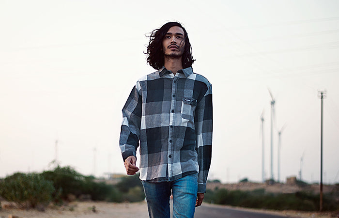Haul Apparel Flannel Shirts, Best Quality Plaid Shirt for online shopping India & worldwide