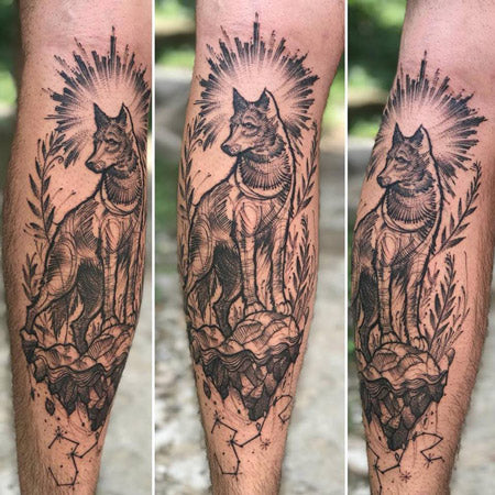 Mettle Ink Wolf Tattoo
