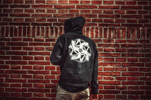 hauligan swastika fan photography streetwear style haul apparel hoodie
