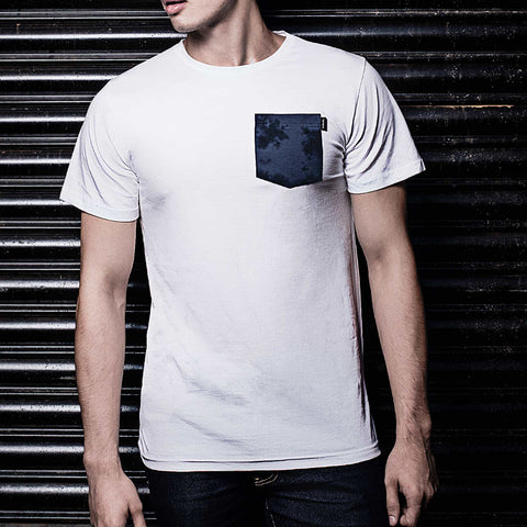 Blue TD Pocket T-Shirt (White)