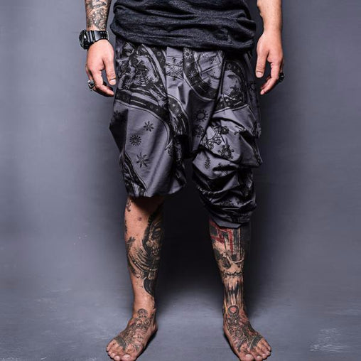 Grey Printed Lungi & Dhoti - Haul Apparel