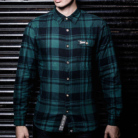Forest Green/Black Checkered Flannel Shirt