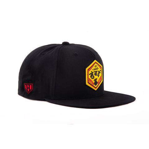 Amchi Mumbai Black Snapack Cap-Side- Haul Apparel