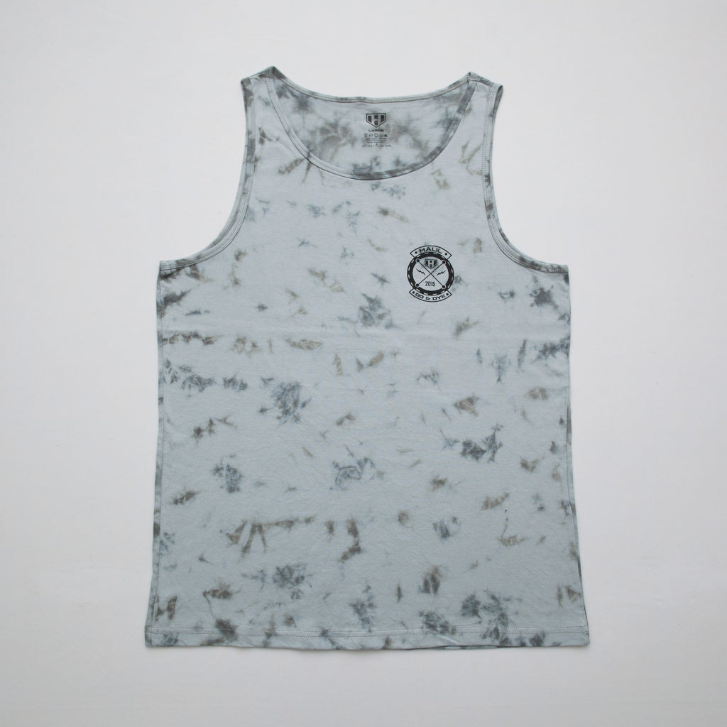 Haul Apparel Grey Tie-Dye Tank Top Front