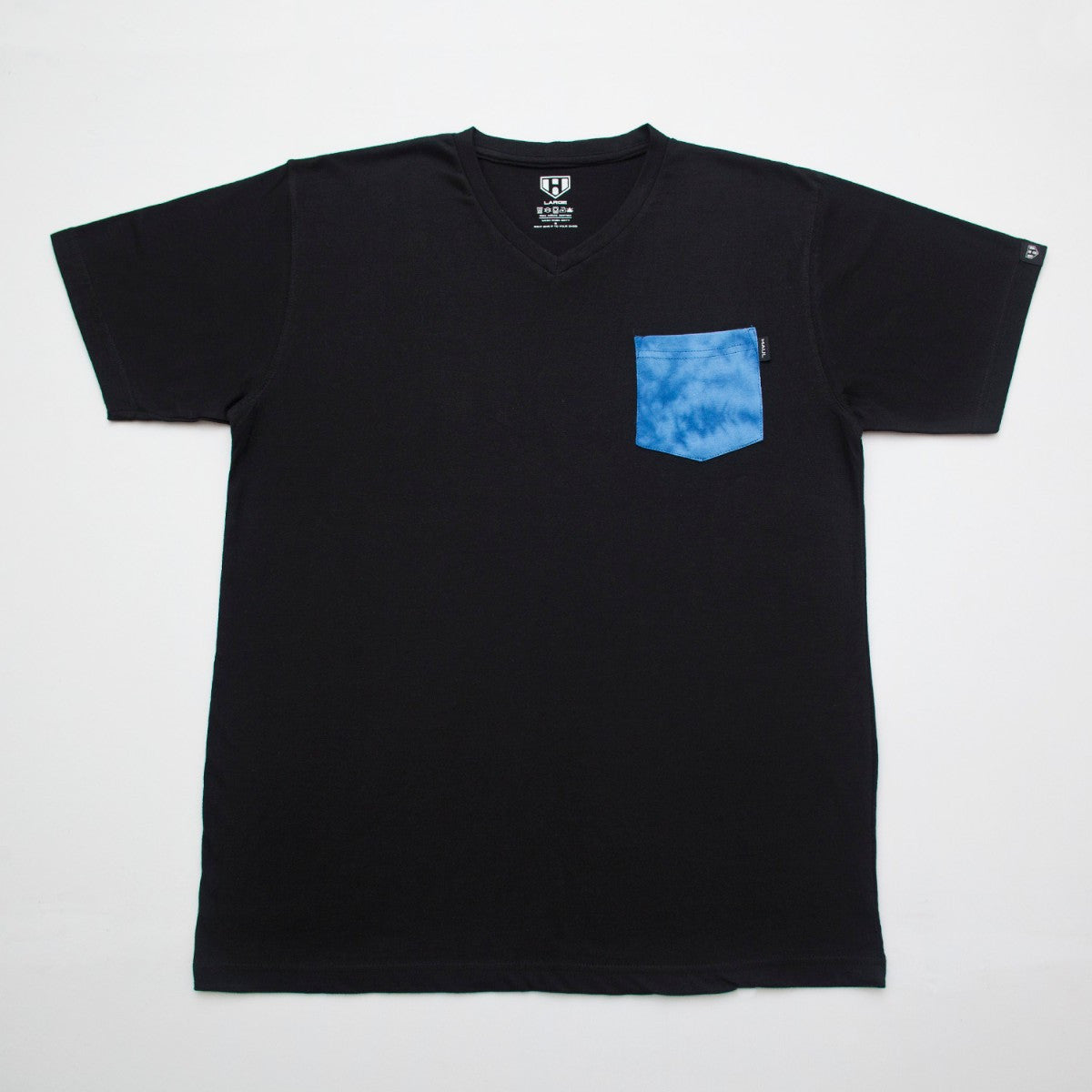 Buy Online Tie Dye Pocket Plain Black Tshirt ( Haul Apparel )
