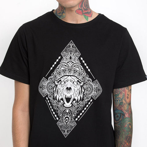 Diamond Black Half Sleeve Haul Apparel - Close