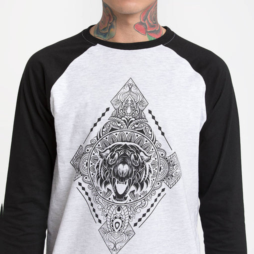 Diamonds Black Sleeve Baseball T-Shirts Haul Apparel - Close