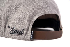 Haul Grey Leather Strapback