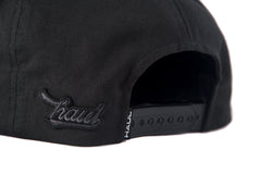 Black On Black Snapack Cap-Back- Haul Apparel