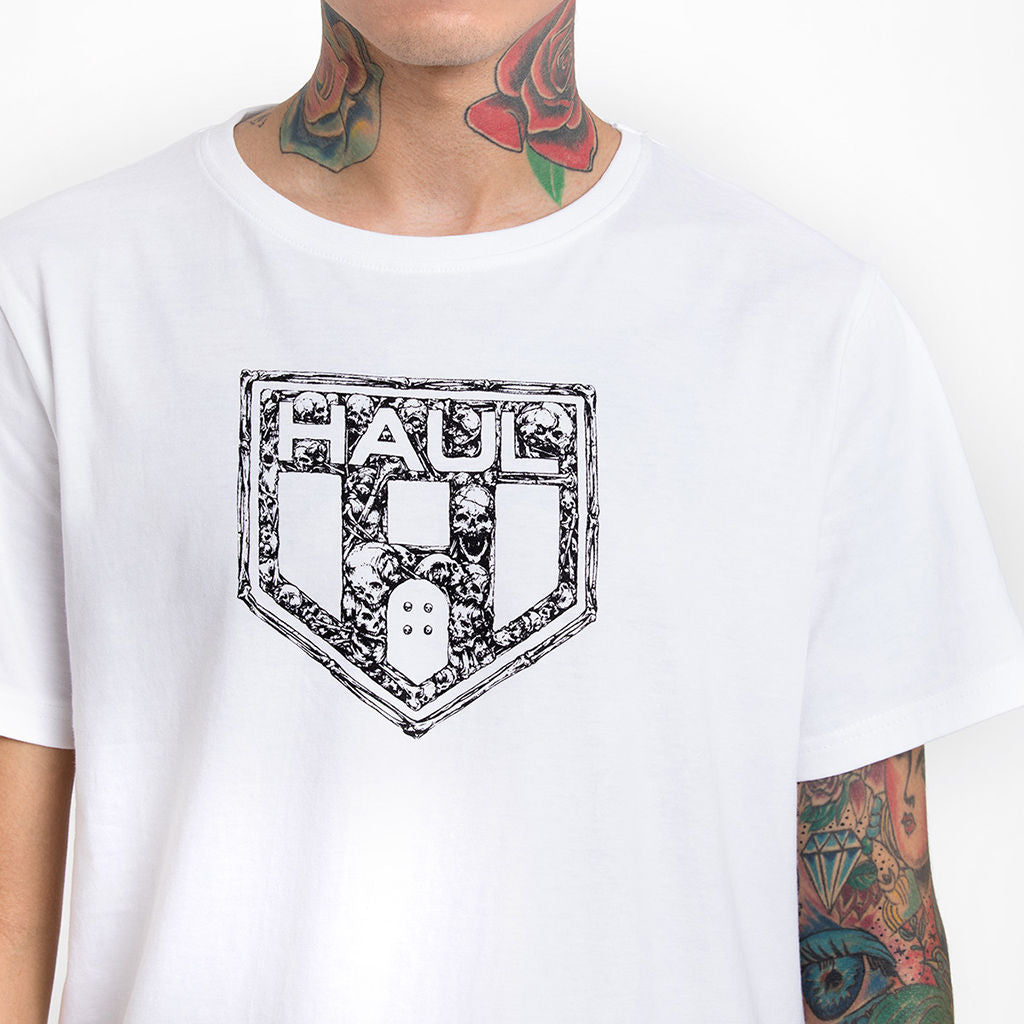 Haul Of Death White Half Sleeve T-Shirt Haul Apparel - Close