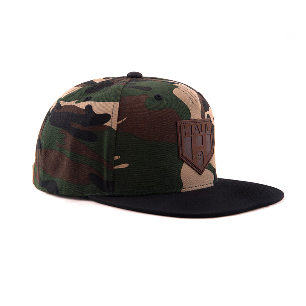 Brown Camouflage Snapback-Side - Haul Apparel