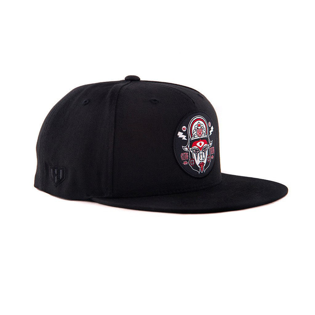 Traditional Maa Kali Black Snapback Hat in India